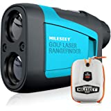 MiLESEEY Professional Laser Golf Rangefinder 660 Yards with Slope Compensation,±0.55yard Accuracy,Fast Flagpole Lock,6X Magni