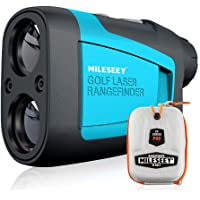 MiLESEEY Golf Rangefinder Laser 660 Yard 6X Magnification with Slope/Pin/Range/Scanning Model Wrist Strap Carrying Bag…