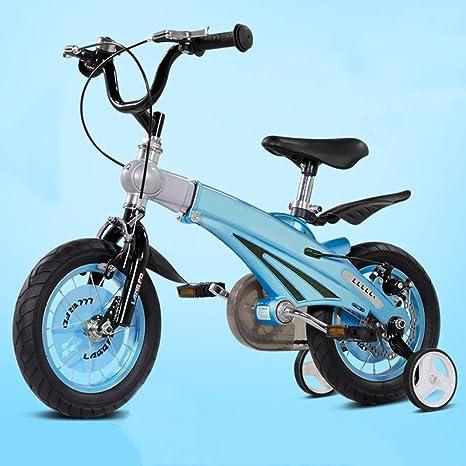 QXMEI Bicicleta Infantil 12/14/16 Pulgadas Niño Niña 2-3-6 Años ...