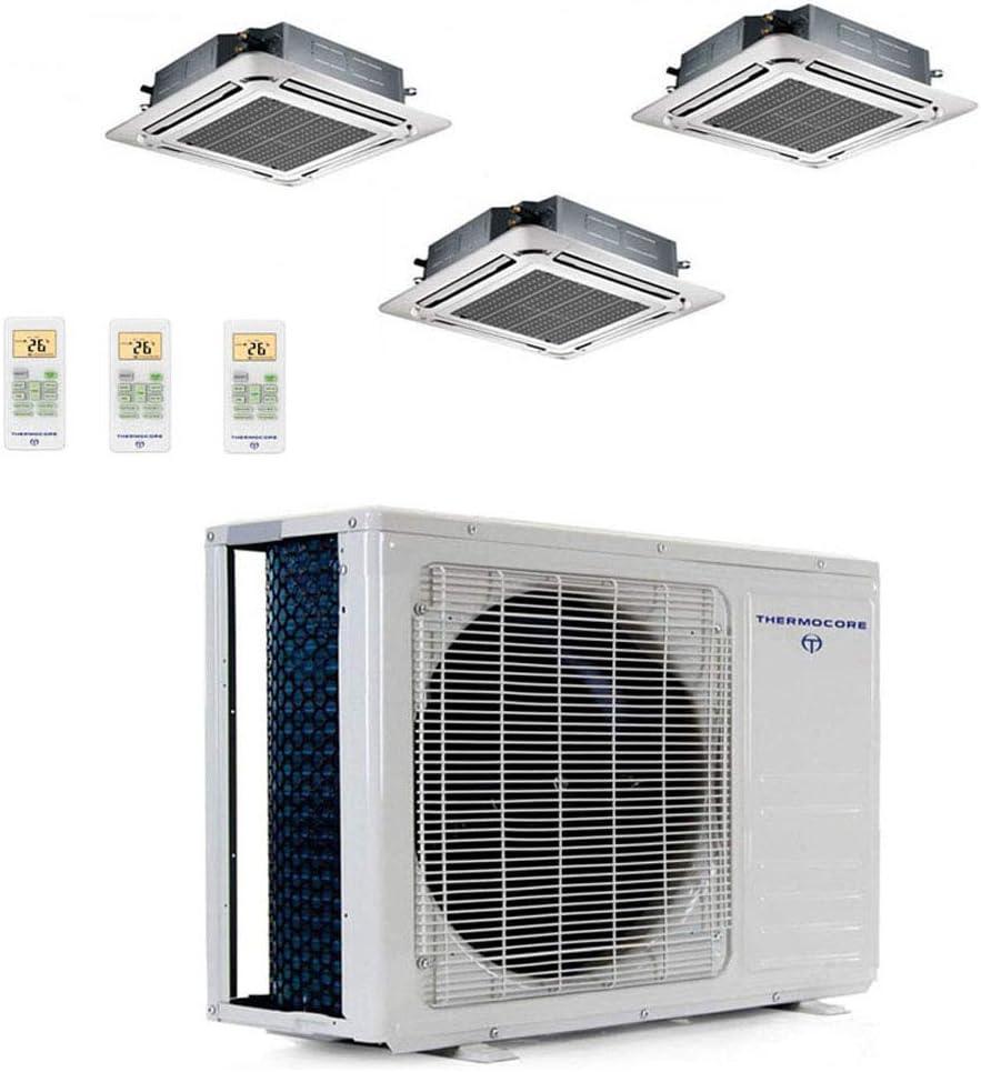 Thermocore 48000 Btu Ductless Mini Split Air Conditioner Heat Pump, White