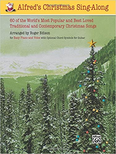 alfreds christmas sing along for easy piano and voice roger edison 9780739042731 amazoncom books - Best Selling Christmas Songs