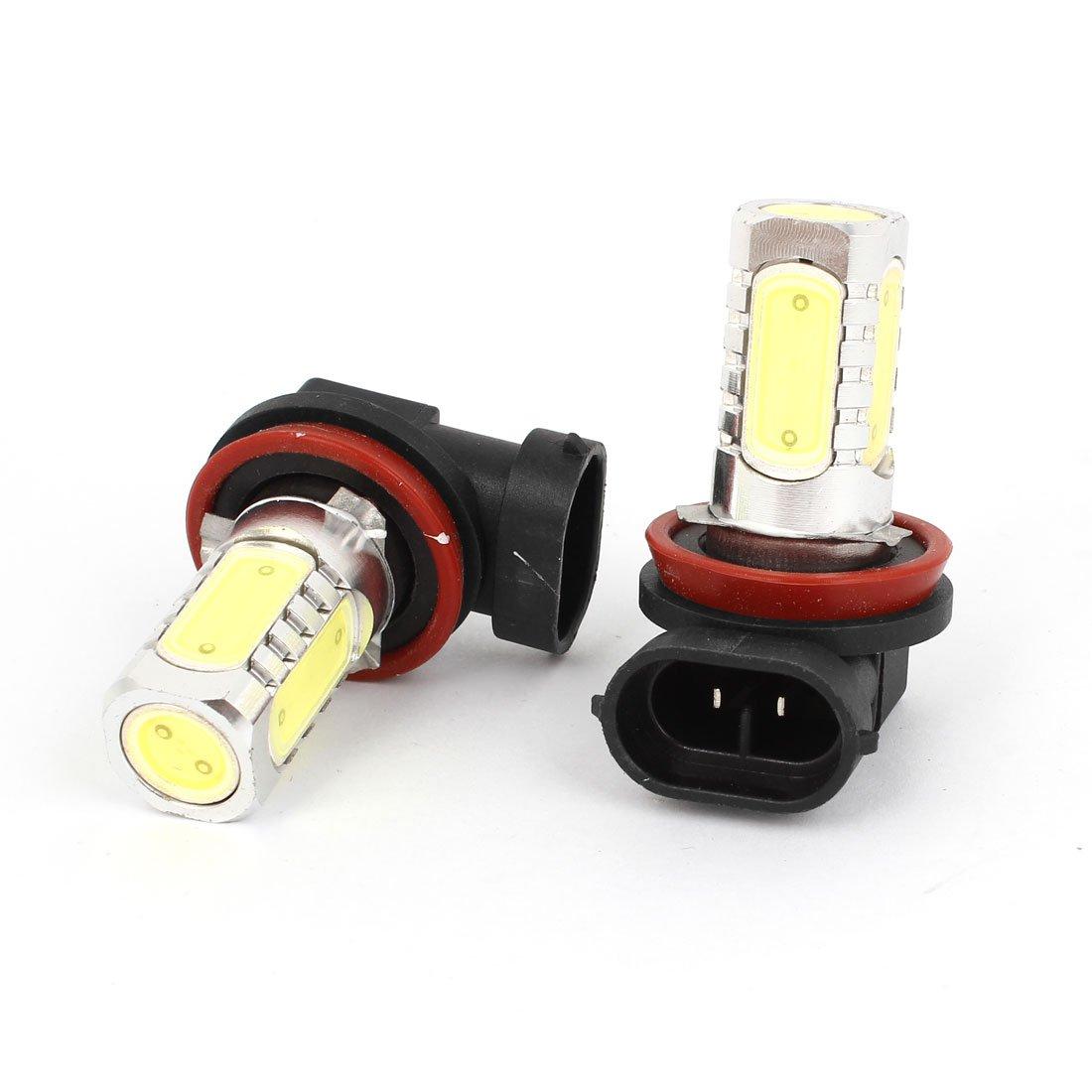 uxcell 2 Pcs H11 White SMD LED Foglamp Headlight Bulb Lamp 12V for Car