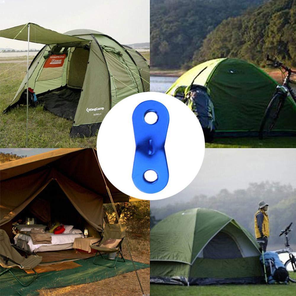 Couleur Rouge 20/pcs r/églage du Cordon Corde Tendeur de Tente pour Camping randonn/ée Pique-Nique Shelter Voile dactivit/é en ext/érieur FOONEE Guyline Ajusteur