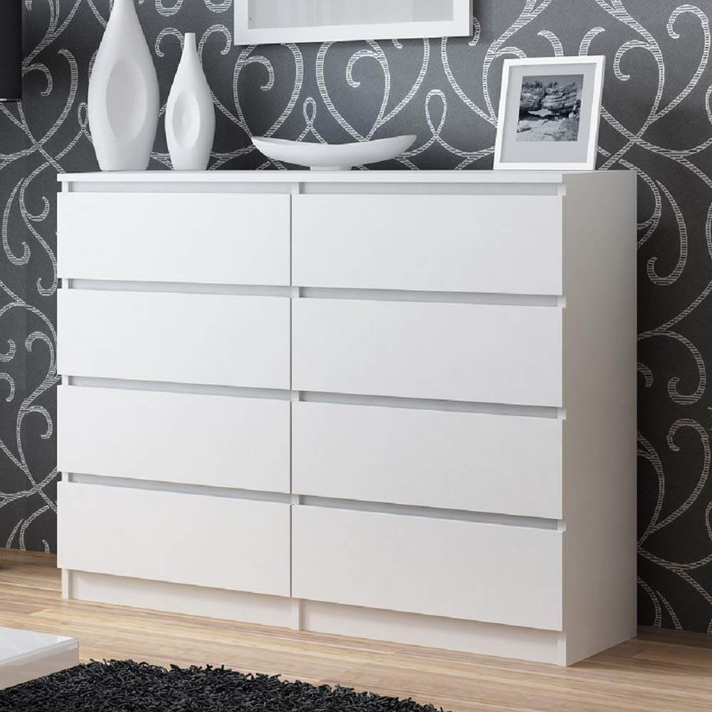 dailydealoffers Hove Contemporary Design Very Large 8 Drawer Chest of Drawers (Light Oak)