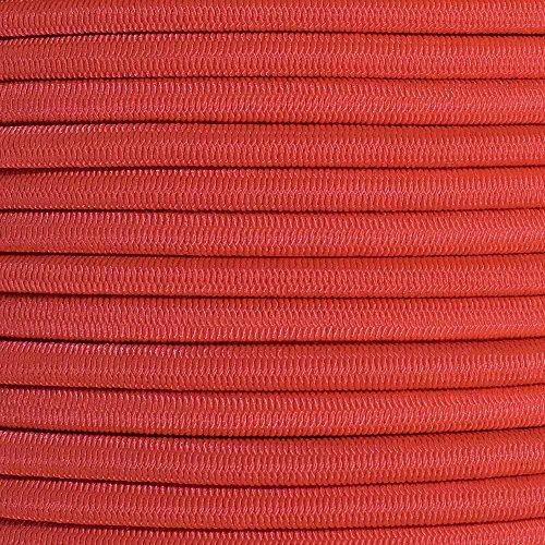 (GOLBERG 1/4 Inch Shock Cord - (25 Feet, Scarlet Red))