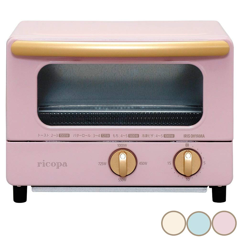 "IRIS OHYAMA Toaster Oven ""ricopa"" EOT-R1001-PA (Ash Pink)【Japan Domestic genuine products】"
