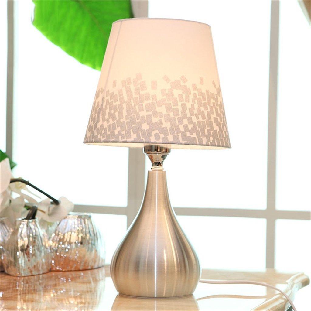 Silberblock Shopping-Moderne minimalistische Metalltischlampe Leselampe
