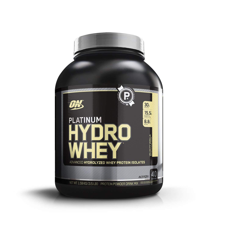 OPTIMUM NUTRITION Platinum Hydrowhey Protein Powder, 100% Hydrolyzed Whey Protein Isolate Powder, Flavor: Velocity Vanilla, 3.5 Pounds by Optimum Nutrition