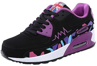 NEWZCERS Moda Cómoda Deportes Al Aire Libre Correr Caminando Camuflaje Aire Amortiguación Zapatos Zapatillas Entrenadores para Mujeres: Amazon.es: Zapatos y ...
