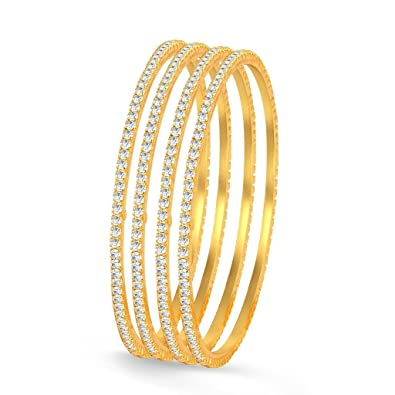 662dcf6d495 Buy Sukkhi Bangle for Women (Golden) (32010BADV750-AMZ 2.4.) Online ...