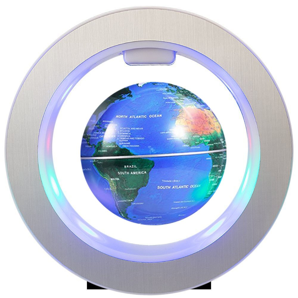 FUZADEL Magnetic Floating Levitating Globe Levitating Toy Magnetic Levitation Globe Magnetic Toy Playboards Floating Globes with Stand