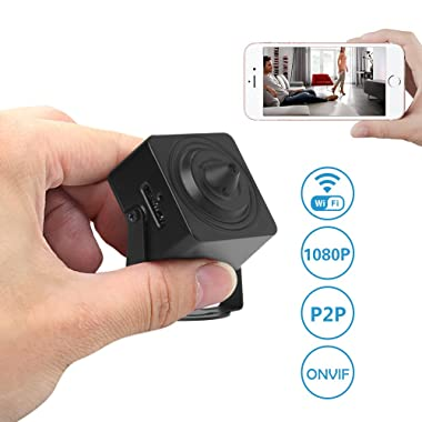 Wireless Security Camera,Etration Wireless Mini Camera,1080P Full HD Wi-Fi Indoor Home Convert Surveillance Secret Spy Camera, Baby Nanny Pet Cam with Motion Detection,P2P