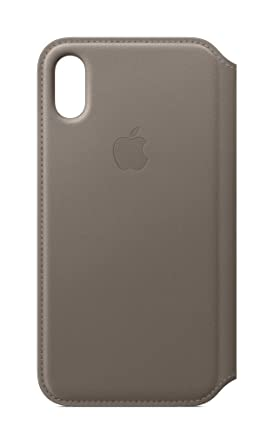 release date 411eb c36d0 Apple Leather Folio (for iPhone X) - Taupe