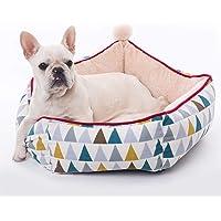 Haustier Bett für Hunde Katzen Rund Kissen Weich Hundebett Fleece Hundeschlafplatz Katzendecke Hundematratze Tierbedarf
