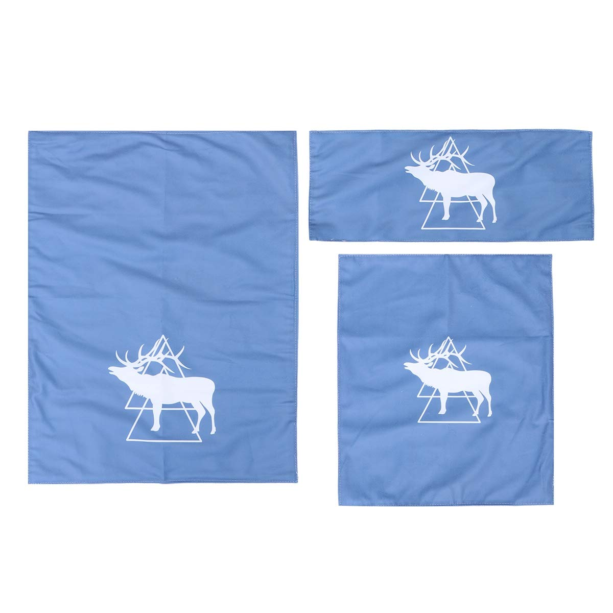 3pcs/Set Nordic Triangle Elk Deer Computer Dust Covers Keyboard Screen Cover 27 Inch