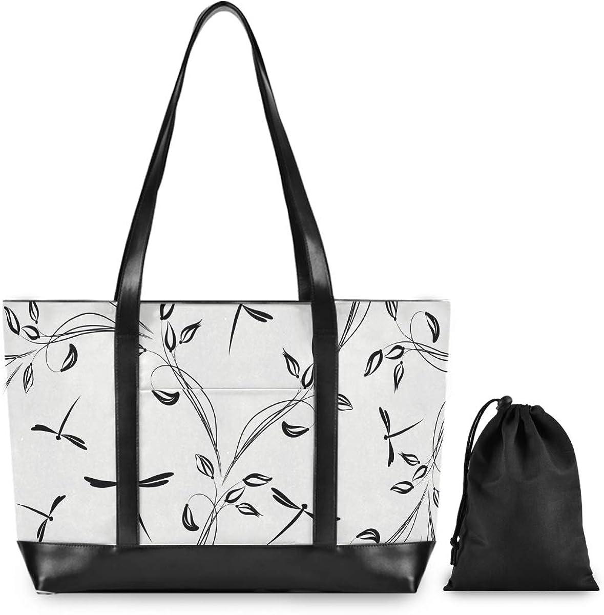 FANTAZIO Veteran US Laptop Tote Bag Fits 15.6 Inch Laptop Womens Lightweight Canvas Tote Bag Shoulder Bag