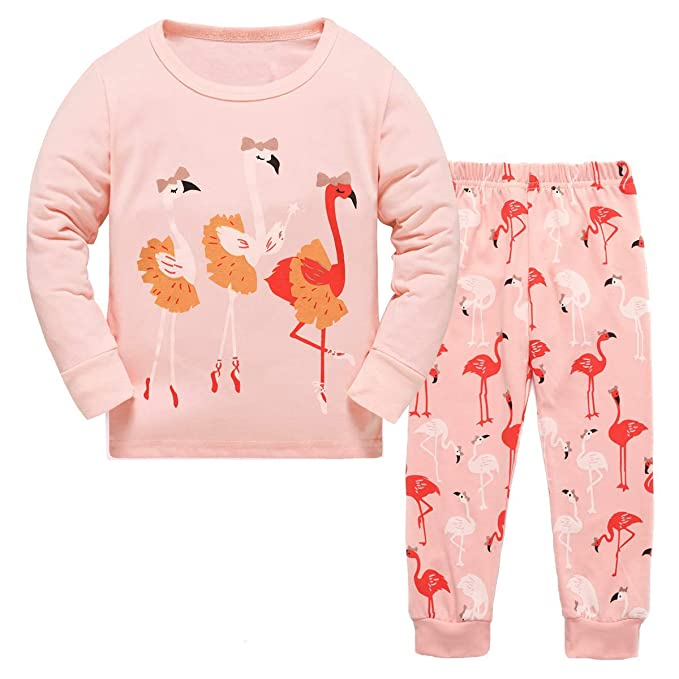 Unicorns /& Rainbows  or Owls Girls Pajama 2 piece New Choice  Size