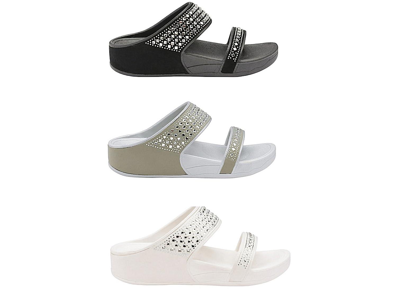 Foster Footwear - Mules mujer hombre , color gris, talla 45 EU