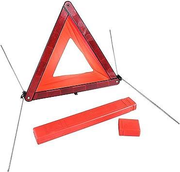 Auto Warndreieck Ece R27 Mini Warndreieck E4 Dreieck Auto Rot Pannendreieck Mit Box Schnelles Aufbauen Für Sicherung Von Unfall Und Gefahrenstellen Auto