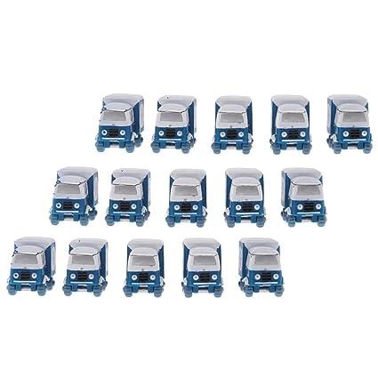 Homyl 15pcs Miniatura de Camiones Estatuas de Autos Piezas ...