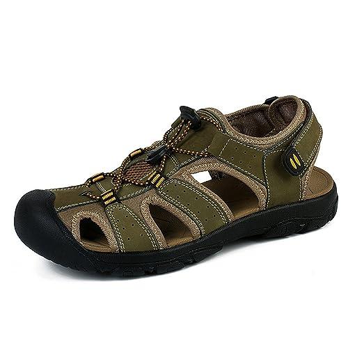 Auda - Chaussures En Cuir Pour Homme Protection Vert, Vert - Vert, 47 Eu