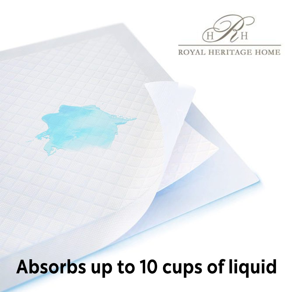 Reusable Commercial Quality Ultra Waterproof Sheet and Mattress Pad Protector, All Sizes, 10 Cups Absorbency, Made in America. (34x76) by Royal Heritage Home (Image #4)