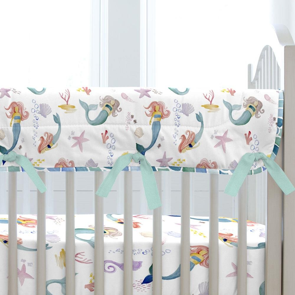 Carousel Designs Watercolor Mermaids Crib Rail Cover by Carousel Designs