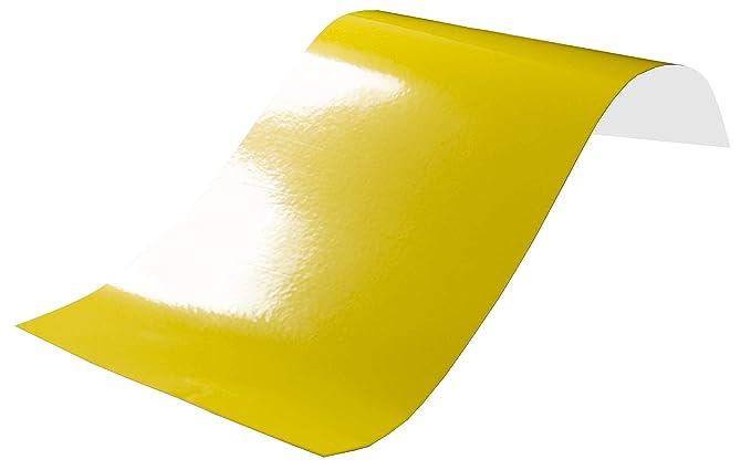 3,2€//m² Plotterfolie glänzend 19 schwefel gelb 63x106cm Möbelfolie selbstklebend