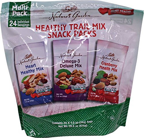 Natures Garden Variety Healthy Trail Mix Snack Pack -24ct (Single Serving Trail Mix compare prices)