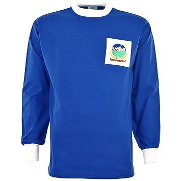 Linfield juerguistas 59740,8 cm s camiseta de fútbol Retro, color Azul - azul