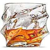 Ashcroft Everest Ice Shaped Whiskey Glass, Unique Cool Crystal Rocks Whiskey Glasses Set of 2 For Scotch, Bourbon, Vodka, Liquor, Gift Boxed