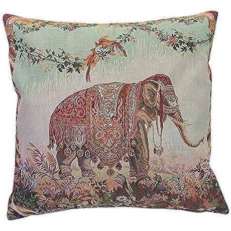 Corona Decor French Woven Elephant Decorative Pillow By Corona Decor Co