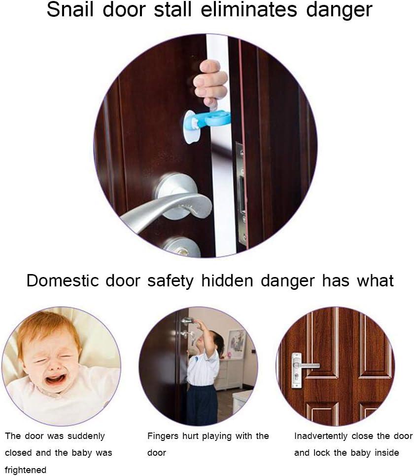 Finger Klemmschutz f/ür Babys Kinder und Haustiere Kindersicherung zum Schutz von Kinderfingern f/ür T/üren und Fenster Rapoyo T/ürstopper Baby Schnecke