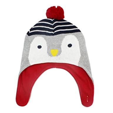 78c27727bf8 RARITY-US Kids Winter Hat Warm Cute Penguin Pom Pom Earmuffs Cap for Girls  Boys
