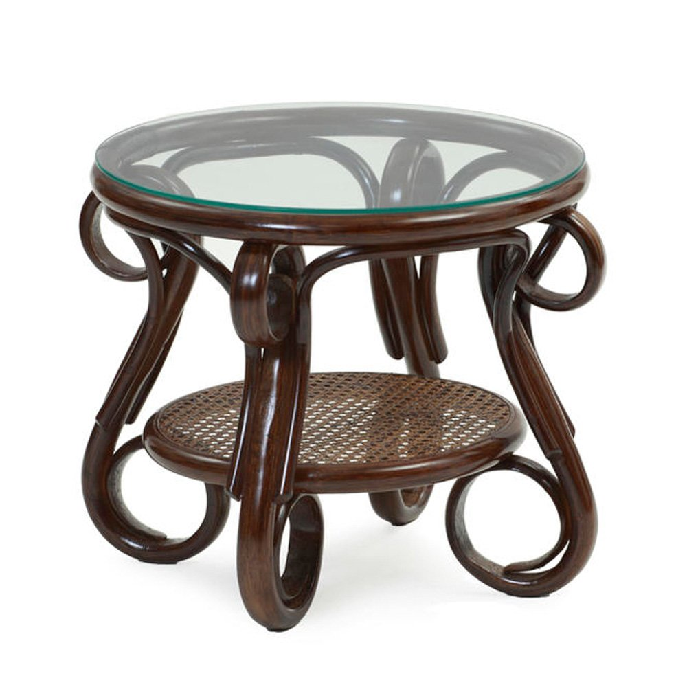 サンフラワーラタン ラタンガラスサイドテーブル T210CB B00W3GTXPC