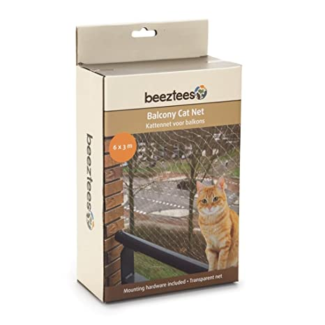 Beeztees Red de Balcón para Gatos Color Transparente Dimensiones 6x3 m 41083
