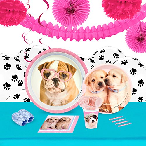 Rachael Hale Dog - BirthdayExpress Rachael Hale Glamour Dogs Party Supplies - Tableware and Decoration Party Pack for 16 Guests