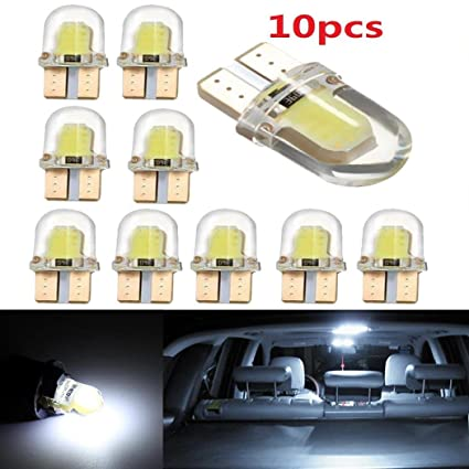 Amazon com: Ecosin 10Pcs T10 194 168 W5W COB 8 SMD LED