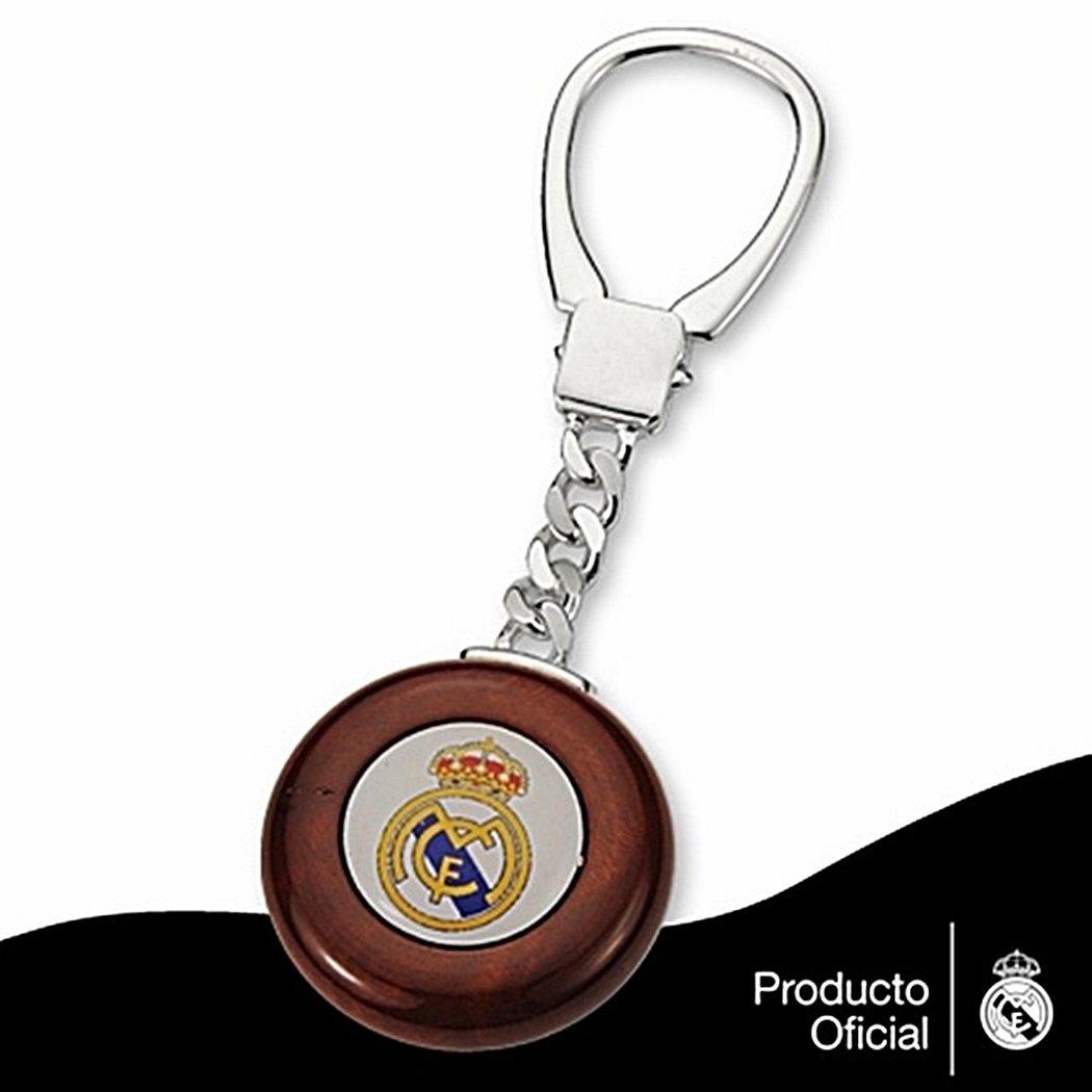 Llavero escudo Real Madrid Plata de ley caoba [6834 ...