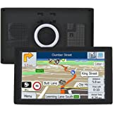 G-TEXNIK 9 Inch Sat Nav GPS Navigation for Car with Lifetime Map Updates for UK & Europe and Free Live Traffic, Black