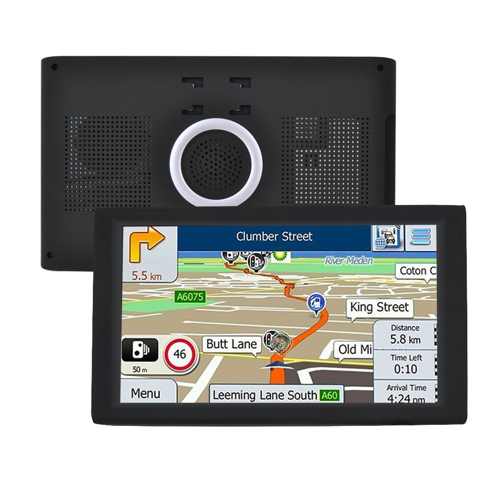 9 Inch Sat Nav GPS Navigation for Car Truck Lorry Satellite Navigator Device with Touchscreen Include UK and EU Latest Maps, Lifetime Map Updates G-TEXNIK WR1