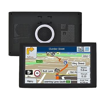 Sistema de Navegación por Satélite 9 Inch para Coche GPS Navegador Bluetooth y WiFi Android 8GB Navegación Mapa Europeo Actualización Gratuita: Amazon.es: ...