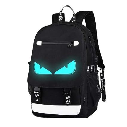 VOHONEY - Mochila Infantil Negro Anime Luminous Backpack for ...