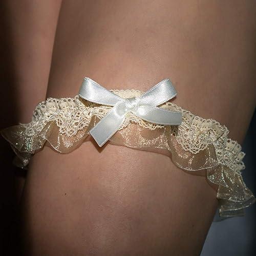 new arrival 19577 d3d7b Strumpfband elfenbein beige gold Hochzeit Braut Brautkleid ...