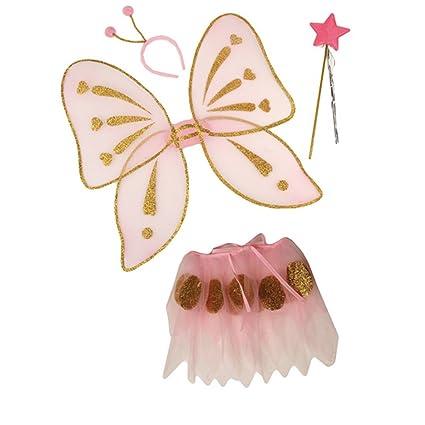 NET TOYS Disfraz de Mariposa para niños Traje Animal Cuento Hadas ...