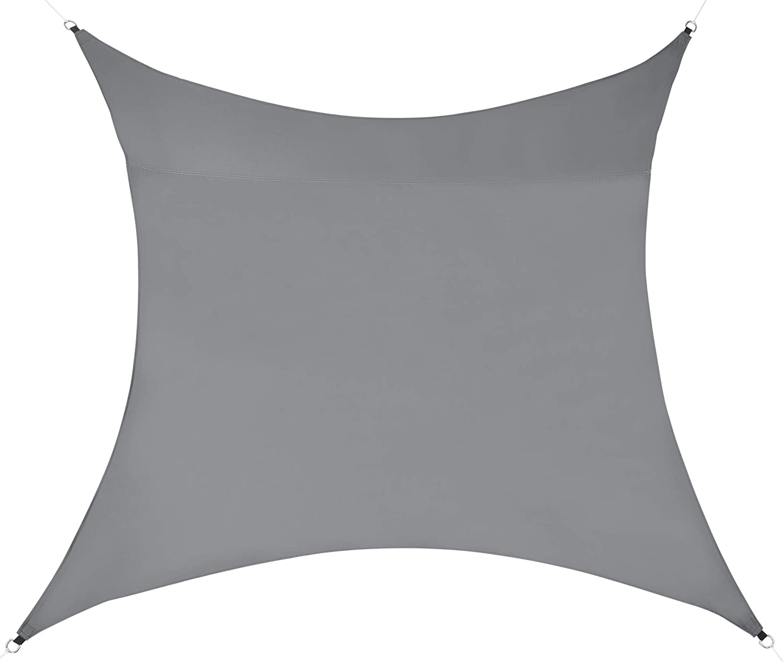 en.casa Tenda a Vela Parasole Oscurante Protezione Raggi UV e Vento Impermeabile Rettangolare 2m x 4m Color Sabbia