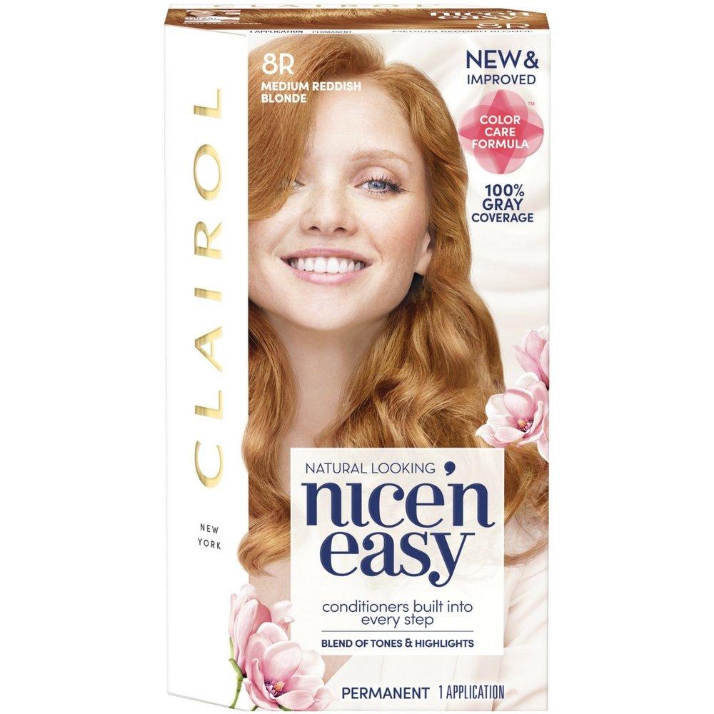 Clairol Nice'n Easy [8R] Medium Reddish Blonde Permanent Hair Color 1 ea (Pack of 3) by Clairol