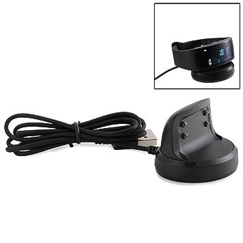 JZK® Cable cargador USB repuesto, accesorios para Samsung Gear Fit 2 SM-R360 SM R360 smartwatch
