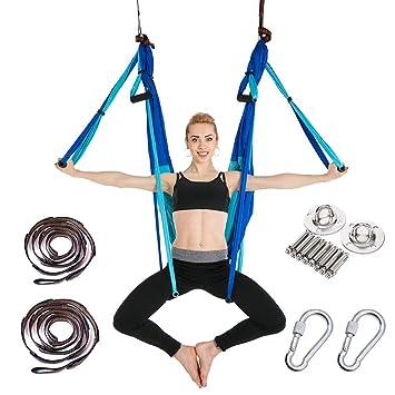 MY-COSE Juego de Columpios aéreos de Yoga, súper ...