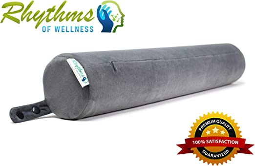 23/'/' Round Cervical Pillow Roll Memory Foam Neck Lumbar Bolster Washable